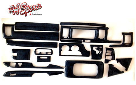 ハイエース200系1型2型3型標準車対応ナビバイザーインテリアパネル 黒木目
