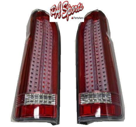 ハイエース 200系 テールライト 縦ライン 赤レンズ LED1年保証付