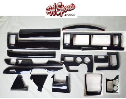 ハイエース 200系 4型/5型 ワイド DX インテリアパネル 黒木目