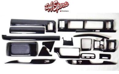 ハイエース 200系 4型/5型 ワイド S-GL用 インテリアパネル ピアノブラック