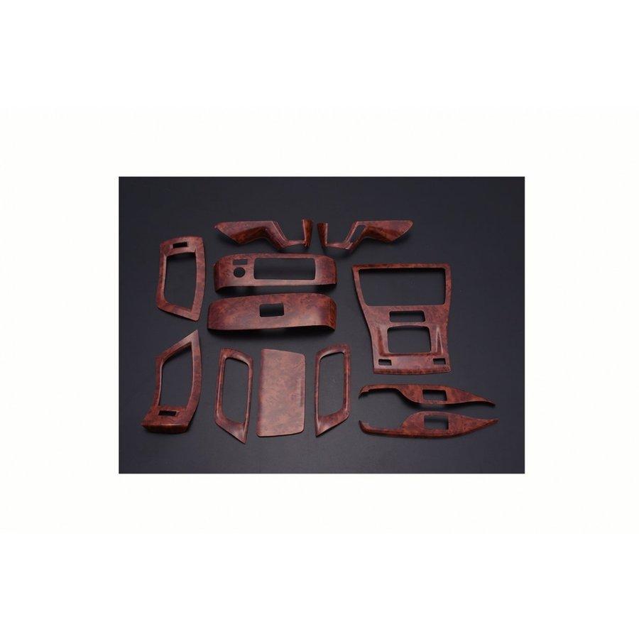 アルファード ヴェルファイア 30系インテリアパネル 3D 立体 内装 パネル 茶木目 12ピース ZERO