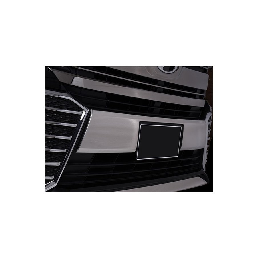 ヴェルファイア 30系 フロントバンパー ガーニッシュ ライセンス ステンレス製 外装パーツ トヨタ VELLFIRE 1ピース ZERO