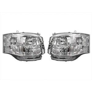 ヘッドライト HID ハイエース 200系 3型 キセノンタイプ インナーメッキ 標準 ワイド ボディ 左右 セット ZERO-070