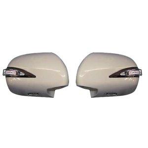 ミラーカバー ハイエース 200系 1-5型 レジアスエース サイド ドア 交換タイプ LED ファイバー 未塗装 素地 HIACE 左右 2個 ZERO