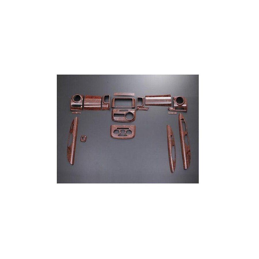 ウッド調 3D インテリアパネル ダイハツ タント タントカスタム L375S L385S 茶木目 16ピース ZERO-P271