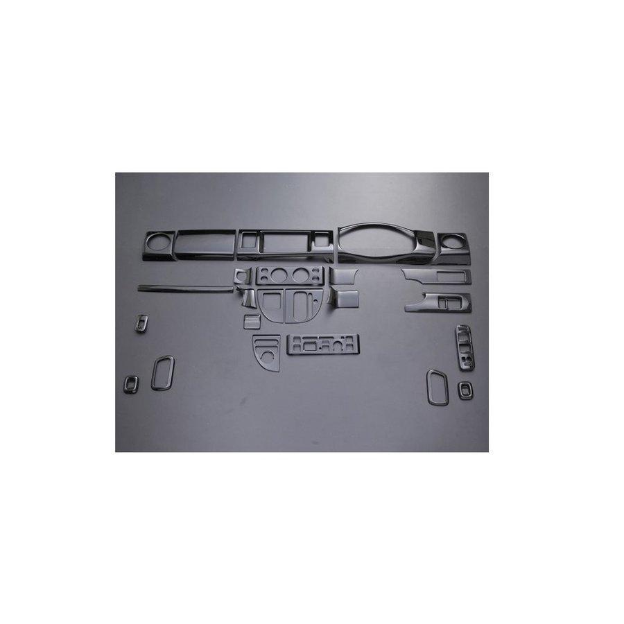 3D インテリアパネル DA64W エブリイワゴン ピアノブラック EVERY WGN 24ピース ZERO