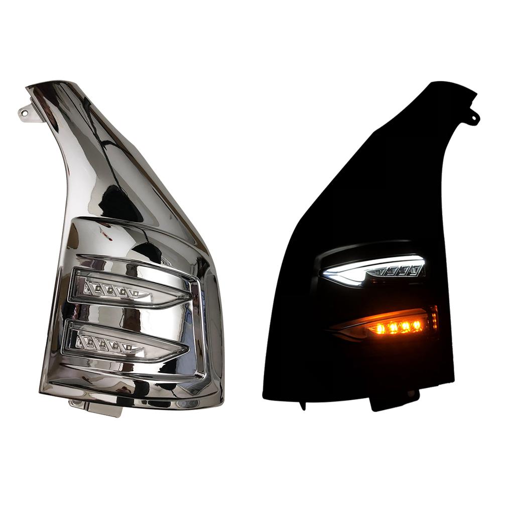 200系 ハイエース レジアスエース 1型 2型 3型 4型 5型 メッキ クリア 交換式 H16~ ABS製 ファイバー ポジション LEDウインカーZERO