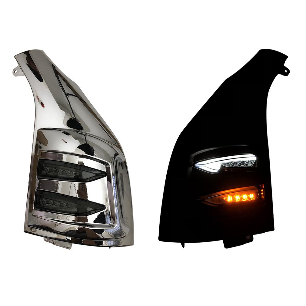 200系 ハイエース レジアスエース 1型 2型 3型 4型 5型 メッキ スモ 交換式 H16~ ABS製 ファイバー ポジション LEDウインカーZERO