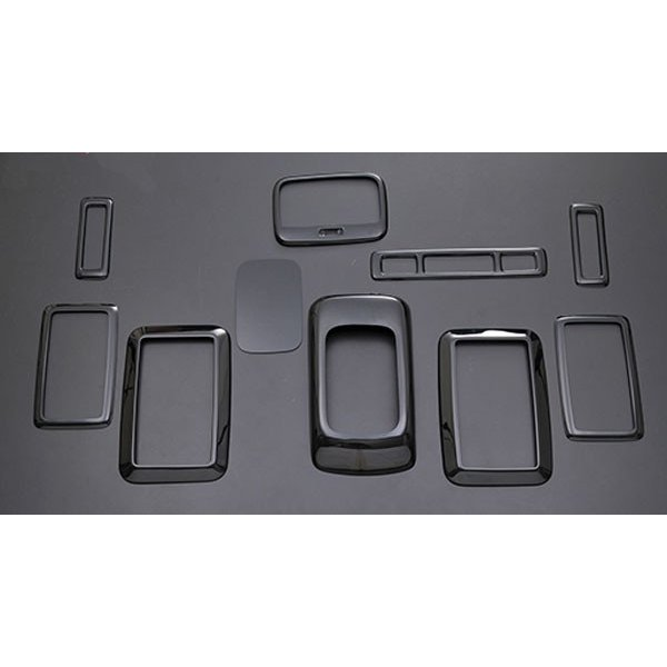 ハイエース 200系 1型 2型 3型 4型 5型 インテリア パネル 標準 リア エアコン 内装 パネル ピアノブラック P0793 ZERO