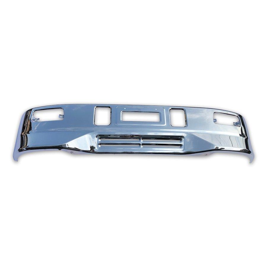 2t ワイド ボディ スーパーグレート タイプ メッキ フロント バンパー W1970mm × H330mm 汎用 エアダム 一体 スポイラー 鉄製 ZERO
