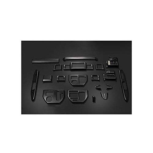 3Dインテリアパネル ダイハツ WAKE LA700 710S 前期 後期 内装パネル ピアノブラック 19ピース ZERO