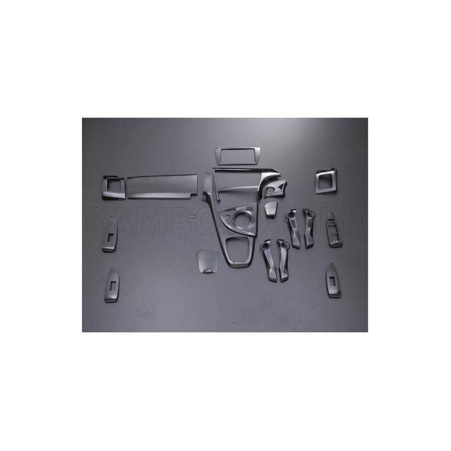 インテリアパネル プリウス30系 ZVW30 黒木目 ブラックウッド 19ピース ZERO