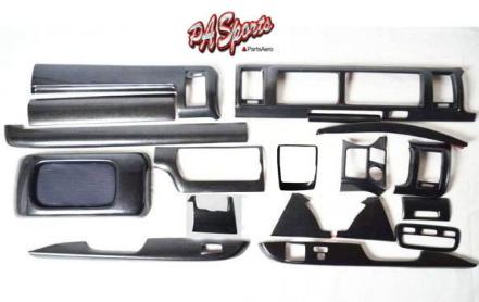 ハイエース 200系 4型/5型 ワイド S-GL用 インテリアパネル 黒木目