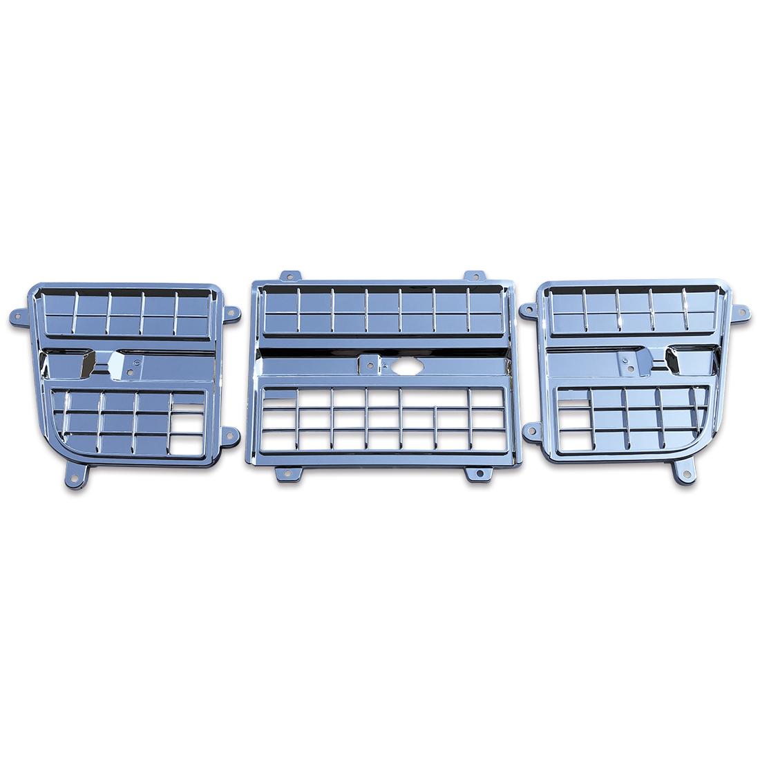 いすゞ NEW ギガ 07 ギガ H22.5-H27.11 メッキ インナー リッド グリル ガーニッシュ 3分割 純正交換タイプ セット AP-T111-01