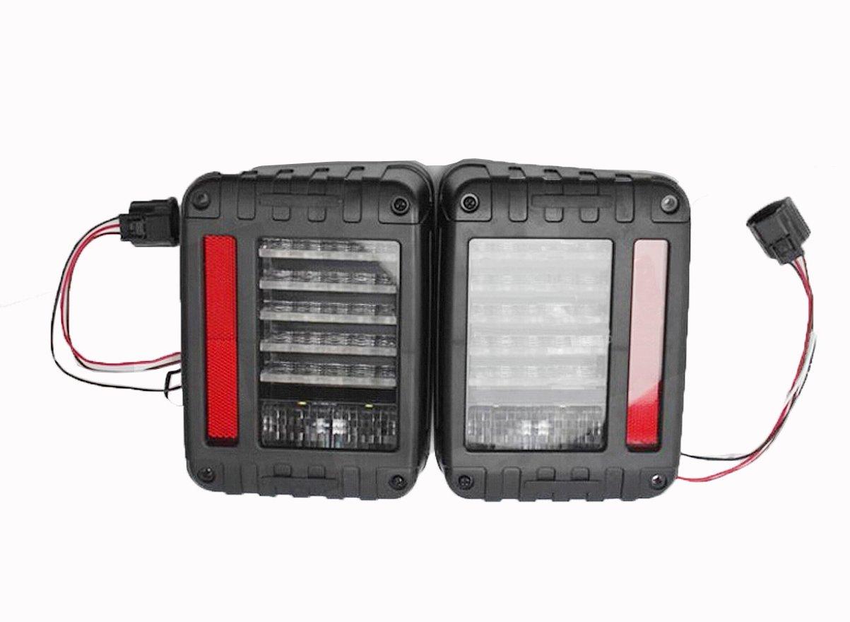 テールランプ ライト ジープ JEEP JK ラングラー LED アクリル ブラック AP-A001LR