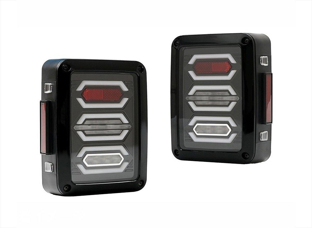 テールランプ ライト ジープ JEEP JK ラングラー 高輝度 LEDファイバー アヴェーンジャー スタイル 左右セット AP-A002LR