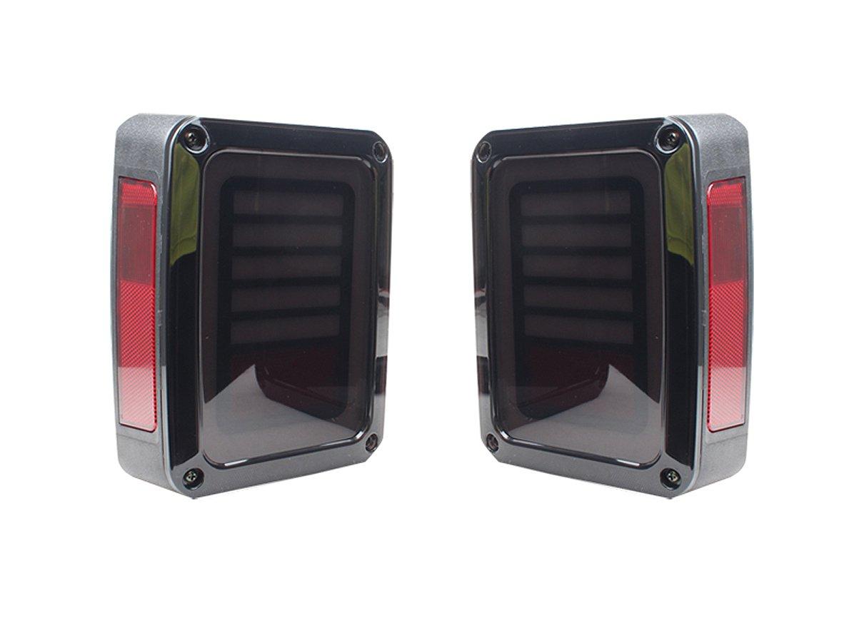 テールランプ ライト ジープ JEEP JK ラングラー 角型 アラウンド スタイル 完全ファイバー AP-A004LR