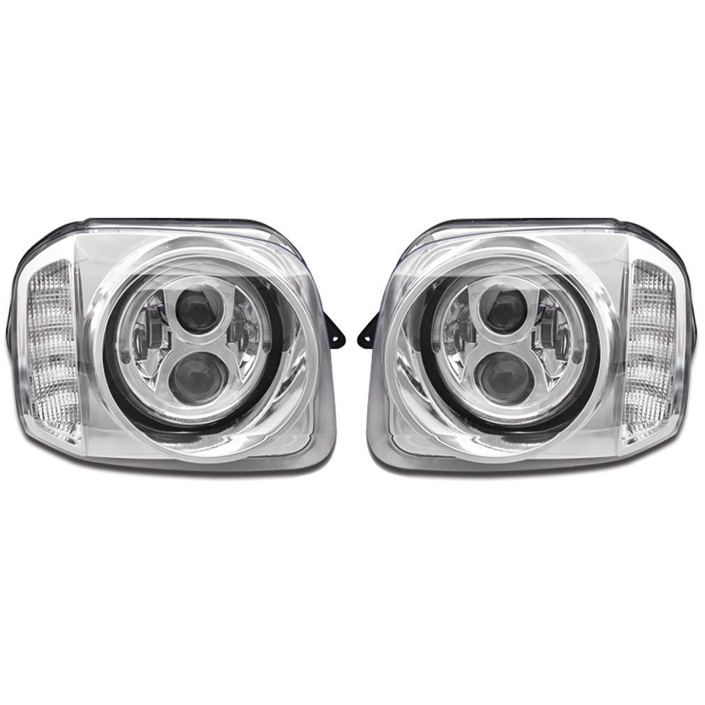 JB23 ジムニー LED リング 付き LED ウィンカー フル メッキ ダブル プロジェクター ヘッド ライト 左右 新品 AP-G075LR