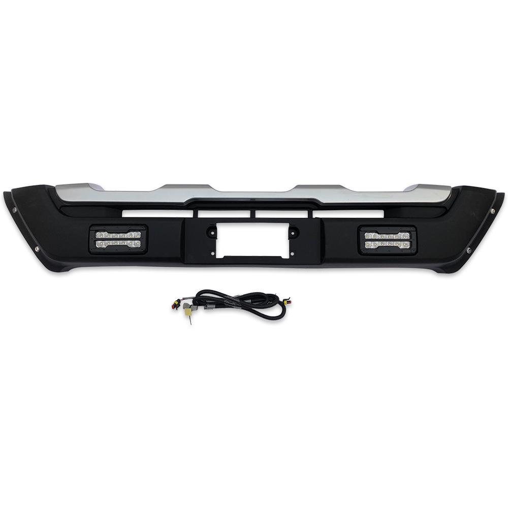 200系 ハイエース 4型 5型 標準 S-GL DX LED デイライト付き フロント バンパー ガード オフロード 仕様 四駆系 アゲ系 新品