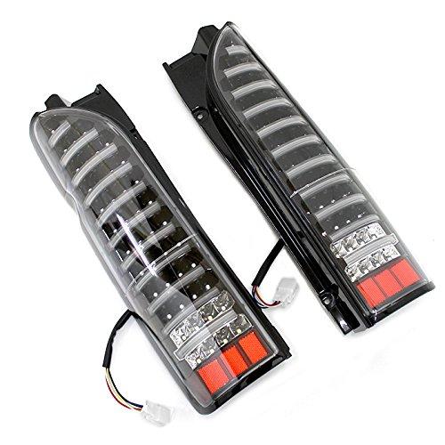 ハイエース レジアスエース 200系 1型 2型 3型 4型 5型 標準 ワイド 全年式対応 LEDライトバー内蔵 フルLEDテールランプ ブラック AP-022LR