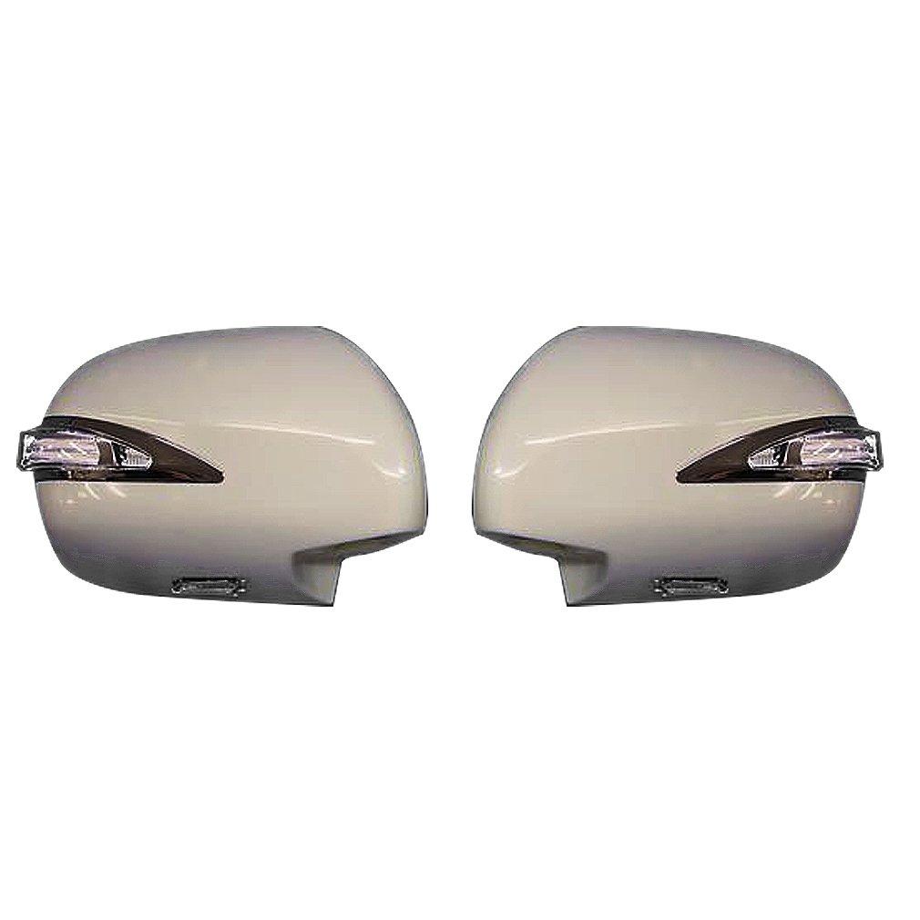 200系 ハイエース/レジアスエース 1型 2型 3型 4型 5型 ファイバー 素地 未塗装 ドア ミラー カバー 交換式 左右 AP-F016LR