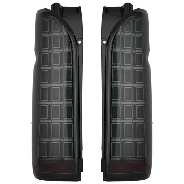 200系 ハイエース/レジアスエース 1型 2型 3型 4型 5型 LED ウィンカー 流れる ブロック テール スモーク メッキ シューティング AP-F025LR