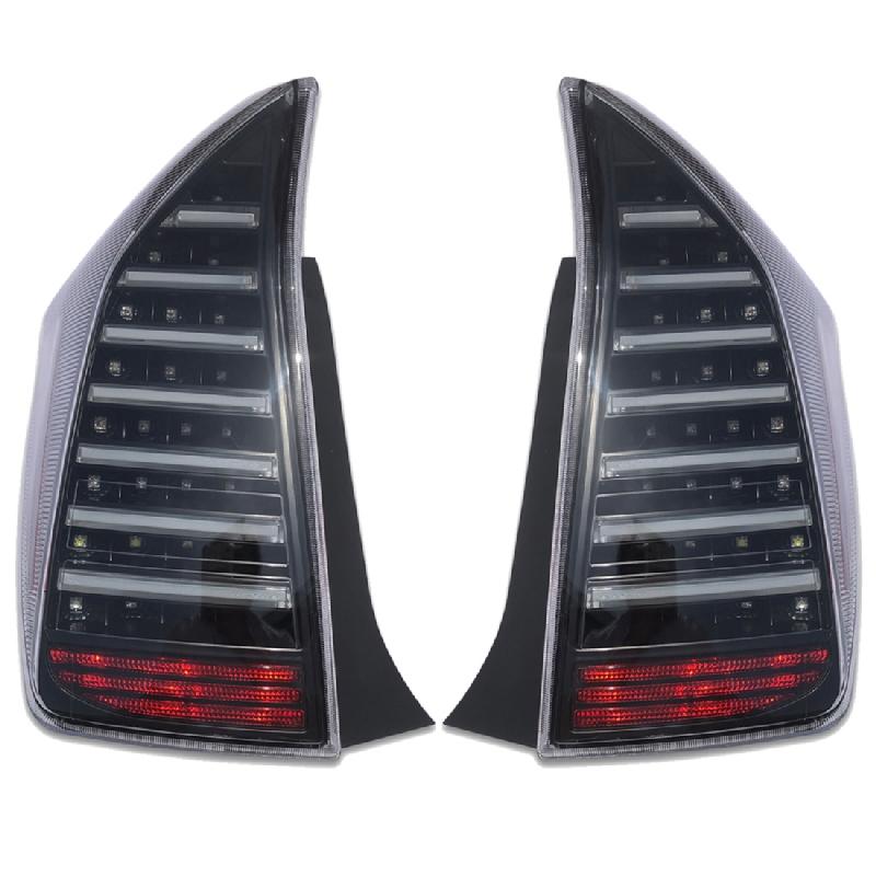 テールランプ プリウス 30系 前期 後期 フルファイバー クリアレンズ インナーブラック 高輝度 LED 左右 2p 純正交換 AP-F100LR