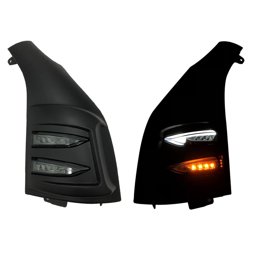200系ハイエース 1-5型 ファイバー ポジション LEDウインカー コーナーパネル 未塗装 スモークウインカー付き 左右セット AP-F86LR