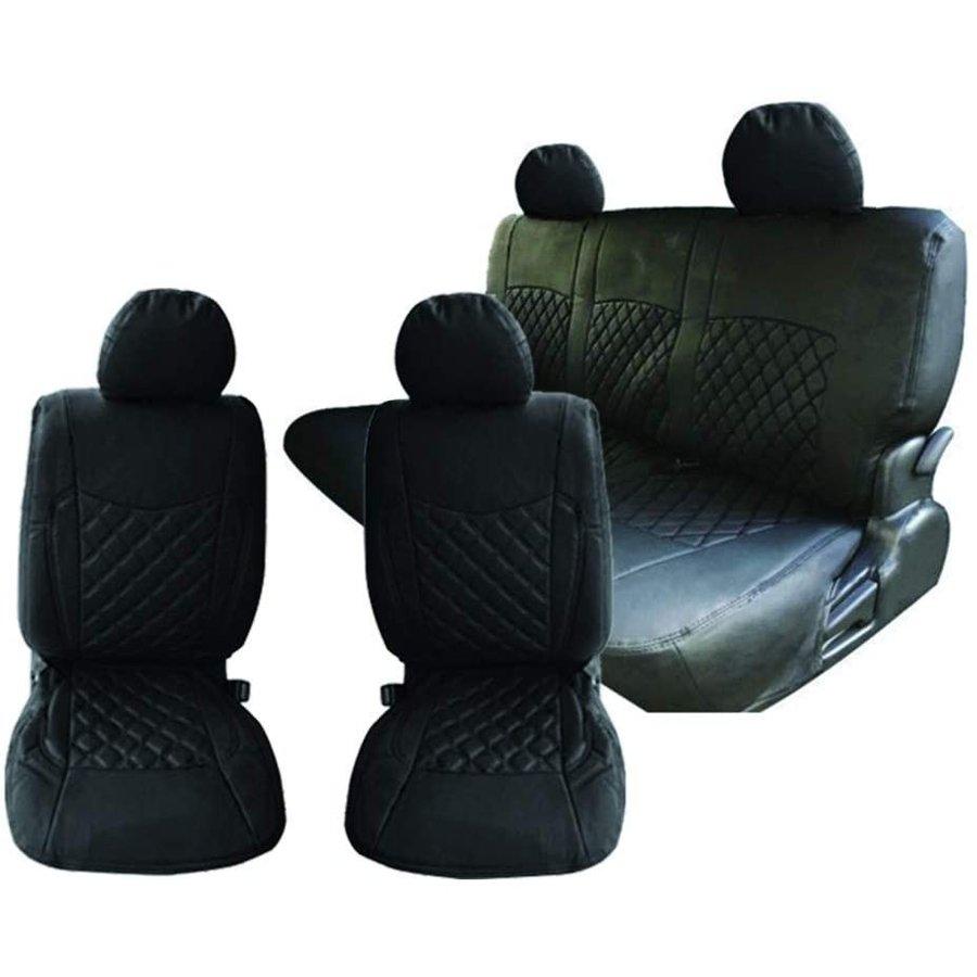 シートカバー ハイエース 200系 S-GL用 ブラック 5人乗り 5座席 セット ブラックステッチ AP-CV011-BK-FR
