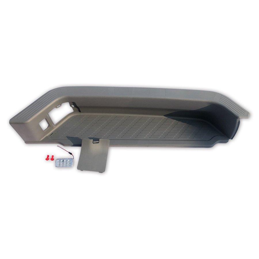 200系 ハイエース レジアスエース スライド ドア サイド ステップ 1型 2型 3型 4型 5型 LED 付き DX S-GL 未塗装 ウレタン 左側 AP-F094