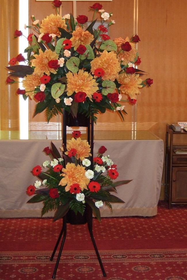 [お祝い 花][イベント 花][開店祝 花]にもスタンド花2段A05P01Nov14【HLS_DU】【楽ギフ_メッセ入力】