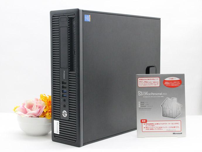 【中古】送料無料 デスクトップPC 本体 Microsoft Office付き Windows10 HP ProDesk 600 G1シリーズ Core i3 4130 3.3GHz メモリ 8GB HDD 500GB DVD-ROM デスク パソコン Aランク U5