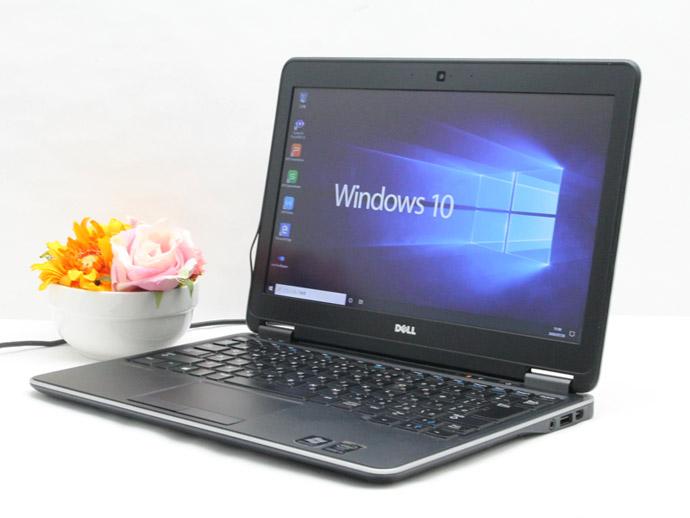 【中古】送料無料 ノートパソコン Office付き Windows10 DELL Latitude E7240 Core i5 4300U 1.9GHz メモリ 4GB 新品SSD 256GB バッテリー完全消耗 Dランク U3