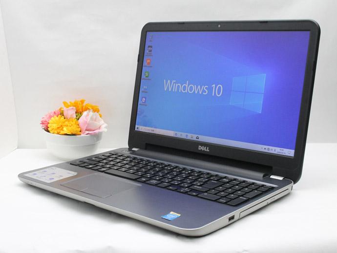 【中古】 WEBカメラ搭載 送料無料 ノートパソコン Office付き Windows10 DELL Inspiron 15R-5537 Core i3 4010U 1.7GHz メモリ 4GB HDD 1TB DVD-RW Cランク B7