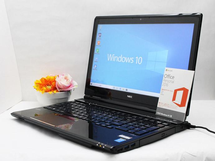 【中古】あす楽 WEBカメラ搭載 Microsoft Office付き 送料無料 ノートパソコン Windows10 NEC LaVie L PC-LL750シリーズ Core i7 4700M 2.4GHz メモリ8GB SSD512GB + HDD 1TB ブルーレイ Bランク E3