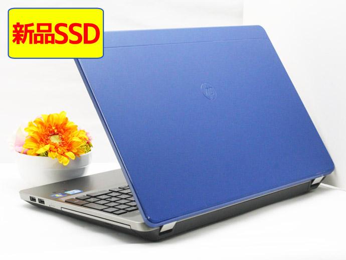 【中古】送料無料 ノートパソコン Office付き 天板ブルーカスタマイズ済 Windows10 HP Probook 4530s Core i5 2430M 2.4GHz メモリ 4GB 新品SSD 128GB DVD-RW Z5
