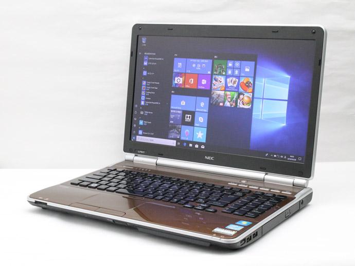 【中古】送料無料 ノートパソコン Office付き Windows10 NEC LaVie L PC-LL750シリーズ Core i7 2670QM 2.2GHz メモリ 8GB 新品SSD128GB ブルーレイ D9