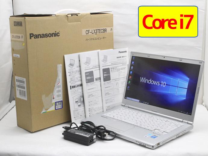 【中古】送料無料 ノートパソコン Office付き Windows10 Panasonic Let's note LX3 CF-LX3TECBR Core i7 4500U 1.8GHz メモリ 8GB SSD 256GB ブルーレイ H1