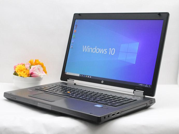 【中古】送料無料 ノートパソコン Office付き 大画面17インチ Windows10 HP EliteBook 8770w Core i5 3360M 2.8GHz メモリ8GB 新品SSD256GB DVD-RW NVIDIA Quadro K3000M搭載 D01