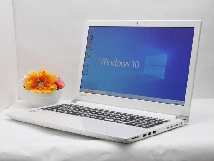 【中古】送料無料 ノートパソコン Office付き Windows10 東芝 dynabook EX/56DW PTE5DWP-RJA Core i3 7100U 2.40GHz メモリ 8GB HDD 1TB BD-RE F08