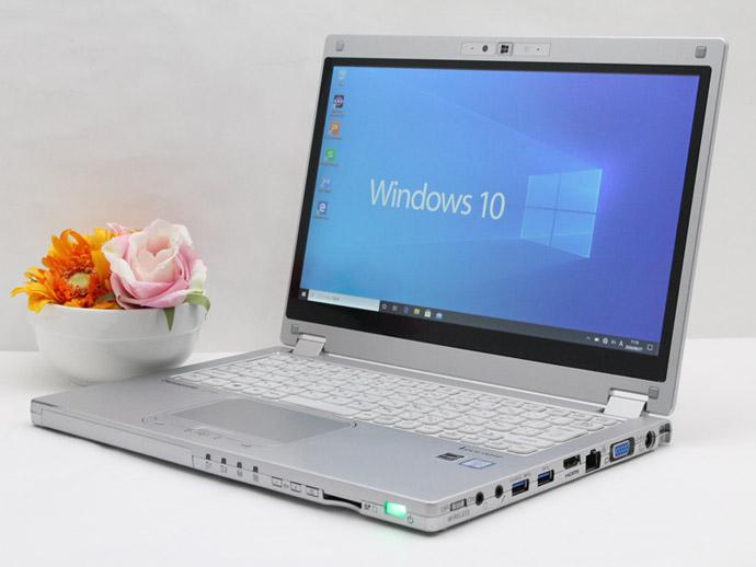 【中古】あす楽 送料無料 ノートパソコン Office付き Windows10 Panasonic Let's note MX5 CF-MX5ADDMS Core i5 6300U 2.4GHz メモリ 8GB SSD 256GB Bランク G17