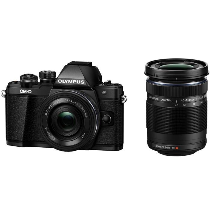 OLYMPUS オリンパス デジタル一眼レフカメラ OM-D E-M10 Mark II EZダブルズームキット ブラック 【送料無料】