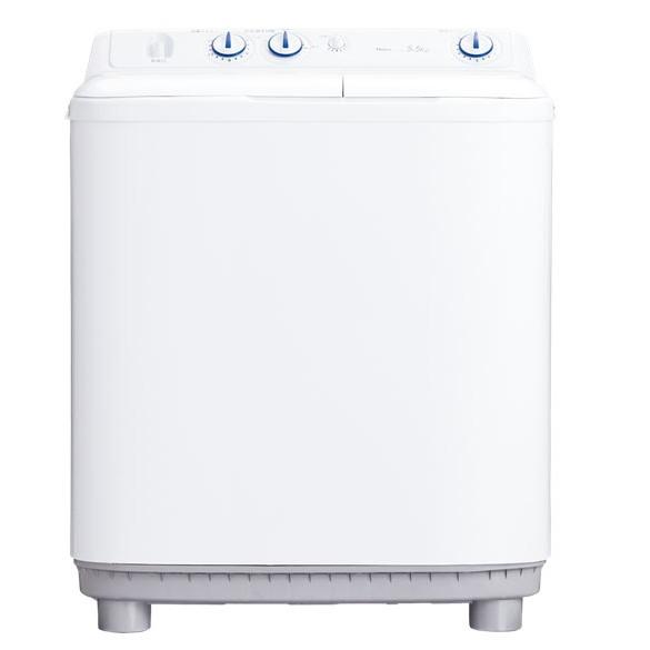 ステンレス脱水槽でいつも清潔 Haier ハイアール 5.5kg 2槽式洗濯機 JW-W55E-W ホワイト 【送料無料・代引不可】@