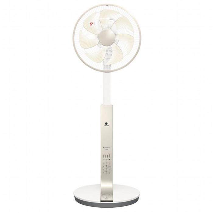 自然で心地よい上質な風。立体首振りでお部屋の空気を快適に。 Panasonic リビング扇風機 F-CR339-N シルキーゴールド リモコン付 パナソニック 【送料無料・即納】