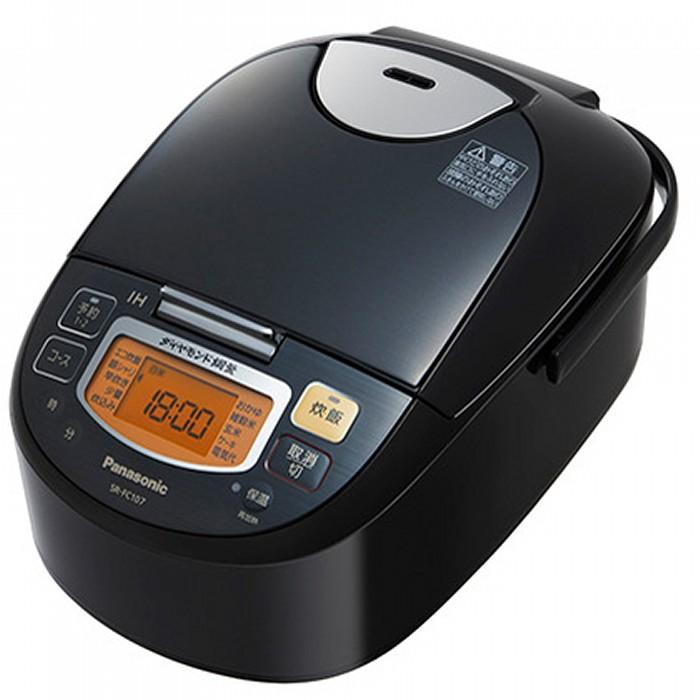 パナソニック IHジャー炊飯器 5.5合 SR-FC107-K ステンレスブラック Panasonic 【即納・送料無料】