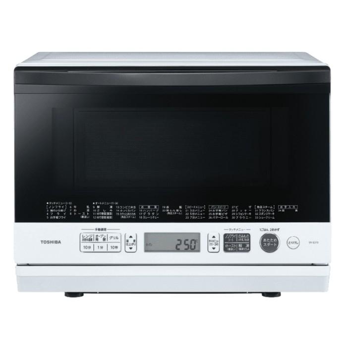 東芝 スチーム 角皿式オーブンレンジ 26L 石窯ドーム ER-SD70(W) ホワイト TOSHIBA 【即納・送料無料~】