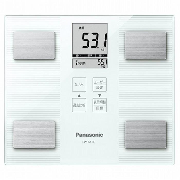 Panasonic 体組成計ヘルスメーター EW-FA14-W ホワイト パナソニック 【送料無料・即納】