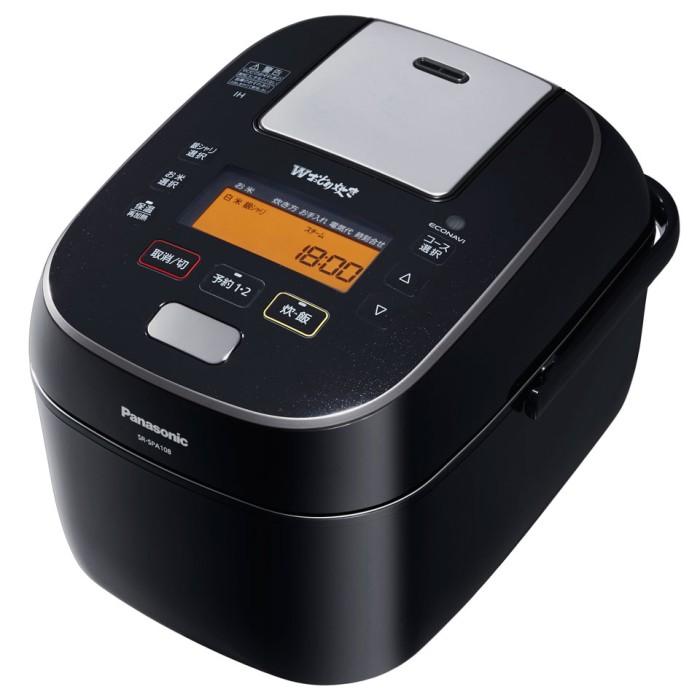 パナソニック スチーム&可変圧力IHジャー炊飯器 SR-SPA108-K ブラック Wおどり炊き 5.5合 Panasonic 【即納・送料無料】