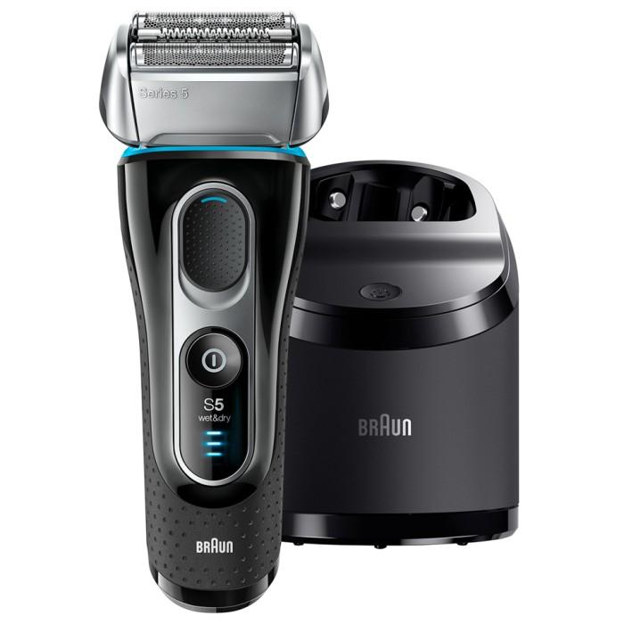 BRAUN メンズ電気シェーバー シリーズ5 5197cc 洗浄器付モデル お風呂剃り対応 トラベルポーチ付 ブラウン 【送料無料・即納】r