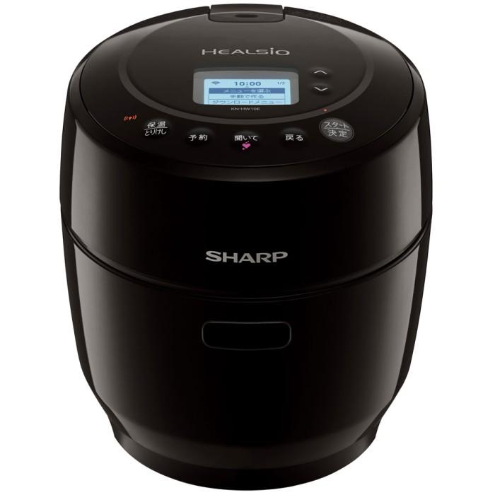 シャープ 電気無水鍋 KN-HW10E-B ブラック 1.0Lタイプ ヘルシオ ホットクック 無線LAN&音声発話機能搭載 SHARP 【即納・送料無料】